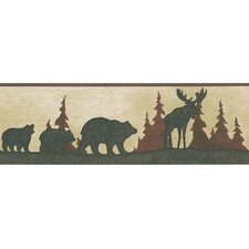 Northwoods Tin Silhouette Border Wallpaper