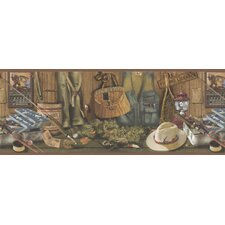 <strong>Brewster Home Fashions</strong> Northwoods Storage Border Wallpaper