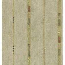 Kitchen and Bath Resource II Patterned Stripe Wallpaper in Earthy Tone