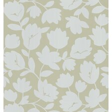 Echo Design Flirty Floral Wallpaper in White