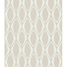 Echo Design Diamond Geometric Wallpaper in Creamy Tonal