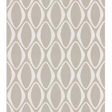 Echo Design Diamond Geometric Wallpaper in Cream / Gray