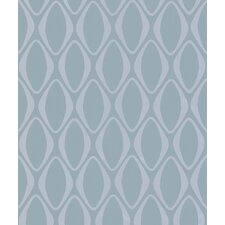 Echo Design Diamond Geometric Wallpaper in Icy Blue