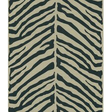 Echo Design Herringbone Black Zebra with Tonal Tan Wallpaper