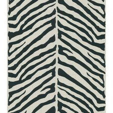 Echo Design Herringbone Black Zebra with Tonal Cream Wallpaper
