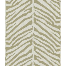 Echo Design Herringbone Tan Zebra Design Over with Tonal Cream Wallpaper
