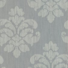 Joseph Abboud Designed Ikat Medallion Wallpaper in Slate Blue