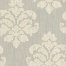 Joseph Abboud Designed Ikat Medallion Wallpaper in Light Gray