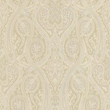 Joseph Abboud Designed Paisley Wallpaper in Golden / Honey Mustard Yellow