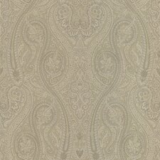 Joseph Abboud Designed Paisley Wallpaper in Neutral