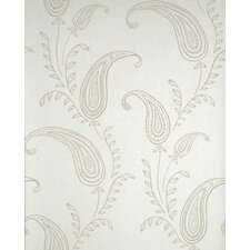 Verve Paisley Wallpaper in Beige