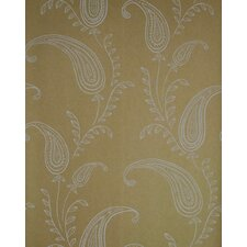 Verve Paisley Wallpaper in Silver