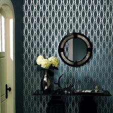 Echo Design Diamond Geometric Wallpaper in Midnight Black Tonal