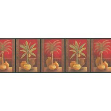 Destinations by the Shore Potted Palm Wall Border