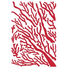 Euro Coral Flock Wall Decal