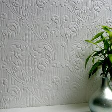 <strong>Brewster Home Fashions</strong> Anaglypta Paintable Charles Supaglypta Damask Embossed Wallpaper
