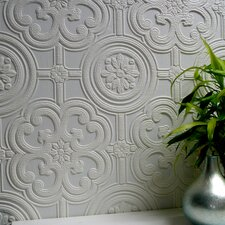 <strong>Brewster Home Fashions</strong> Anaglypta Paintable Egon Floral Embossed Wallpaper