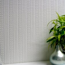 <strong>Brewster Home Fashions</strong> Anaglypta Paintable Westcott Stripe Embossed Wallpaper