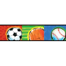 <strong>Brewster Home Fashions</strong> Kids World All Star Sports Wallpaper Border