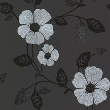 <strong>Brewster Home Fashions</strong> Zinc Zync Modern Floral Wallpaper