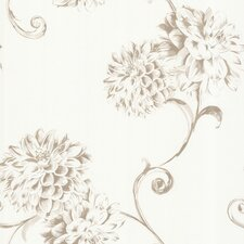<strong>Brewster Home Fashions</strong> Zinc Deliah Watercolor Dahlia Floral Wallpaper