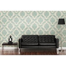 Zinc Sebastion Damask Wallpaper