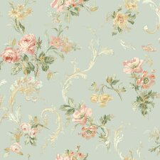 <strong>Brewster Home Fashions</strong> Springtime Cottage Floral Acanthus Trail Wallpaper