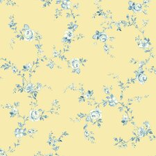 <strong>Brewster Home Fashions</strong> Springtime Cottage Tonal Floral Trail Wallpaper