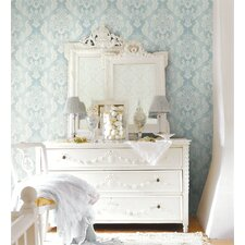 Springtime Cottage Damask Ombre String Wallpaper
