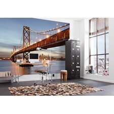 <strong>Brewster Home Fashions</strong> Komar Bay Bridge Wall Mural