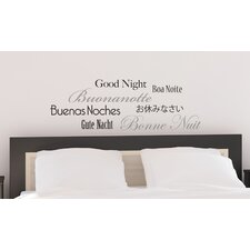 Euro Good Night Wall Quote Decals