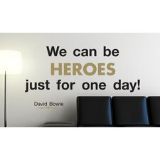 <strong>Brewster Home Fashions</strong> Euro We Can Be Heroes Quote Wall Decal