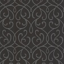 Accents Alouette Mod Swirl Scroll Wallpaper