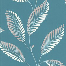 Accents Aubrey Modern Leaf Trail Wallpaper