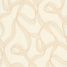 <strong>Brewster Home Fashions</strong> Decadence Aria Ribbon Swirl Abstract Wallpaper