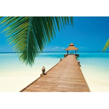 <strong>Brewster Home Fashions</strong> Ideal Decor Paradise Beach Large Wall Mural