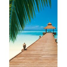 <strong>Brewster Home Fashions</strong> Ideal Decor Paradise Beach Wall Mural
