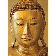 Ideal Decor Golden Buddha Wall Mural
