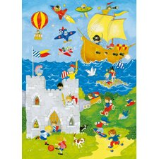 <strong>Brewster Home Fashions</strong> Ideal Decor It's A Boys World Wall Mural