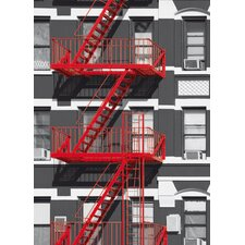 Ideal Decor Fire Escape Wall Mural