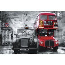 Ideal Decor Taxi & Bus Wall Mural