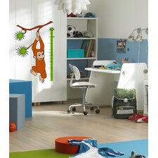 Euro Monkey Growth Chart Wall Decal