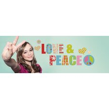 Euro Love & Peace Wall Decal