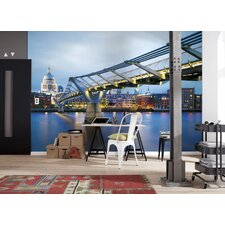 <strong>Brewster Home Fashions</strong> Komar Millennium Bridge Wall Mural