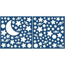 Home Decor Glow in the Dark Moon & Stars Wall Decal