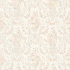 Juliette Phebe Floral Urn Damask Embossed Wallpaper