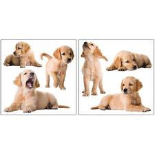 <strong>Brewster Home Fashions</strong> Home Décor Puppy Wall Decal