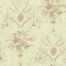 <strong>Brewster Home Fashions</strong> Pompei Naples Floral Fresco Distressed Wallpaper