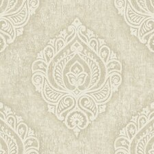 <strong>Brewster Home Fashions</strong> Pompei Theodor Damask Medallion Wallpaper