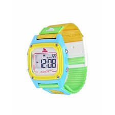 Shark Clip Watch in White / Neon
